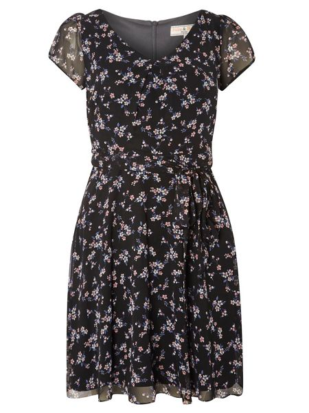 Dorothy Perkins Billie Petites Ditsy V Neck Dress
