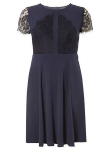 Dorothy Perkins Lace Scallop Fit and Flare Dress