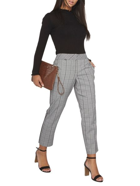 Dorothy Perkins Prince of Wales Straight Leg Trousers