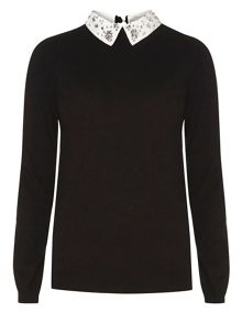 Dorothy Perkins Tall Embellished Collar Jumper