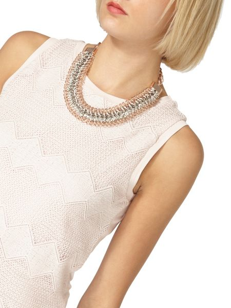Dorothy Perkins Chevron Lace Shell Top