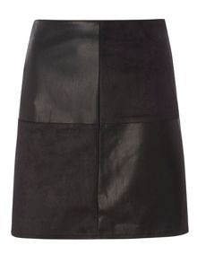 Dorothy Perkins PU Mix Mini Skirt