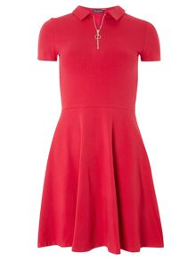Dorothy Perkins Zip Front Fit And Flare Dress