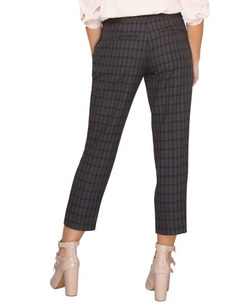 Dorothy Perkins Petite Buckle Check Trousers