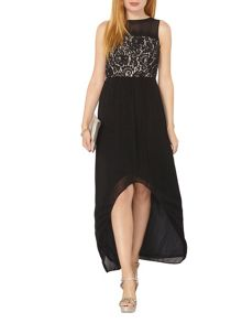 Dorothy Perkins Lace High Low Hem Maxi Dress