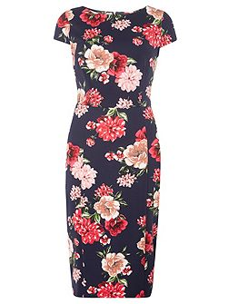 Tall Floral Printed Pencil Dress