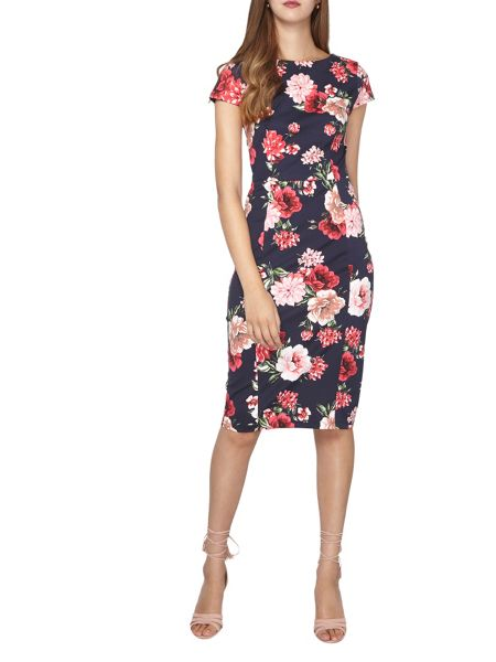 Dorothy Perkins Tall Floral Printed Pencil Dress
