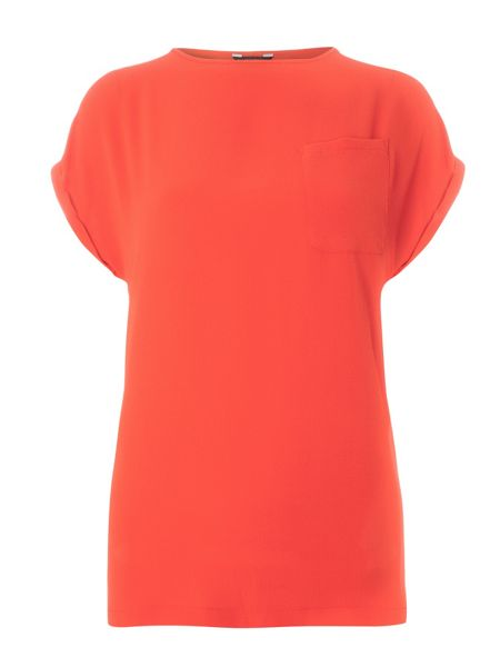 Dorothy Perkins Red Zip Back Tee