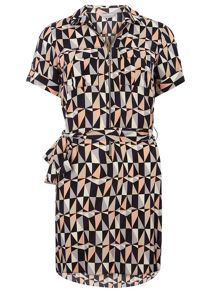 Dorothy Perkins Petite Geo Shirt Dress