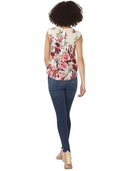 Dorothy Perkins Billie and Blossom Border Shell Top