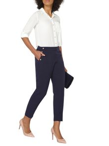 Dorothy Perkins Button Front Straight Leg Trousers