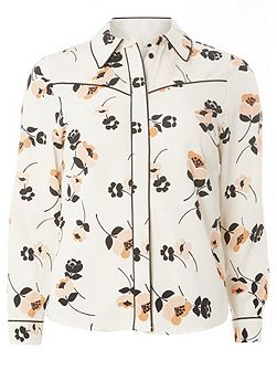Petite Floral Western Shirt
