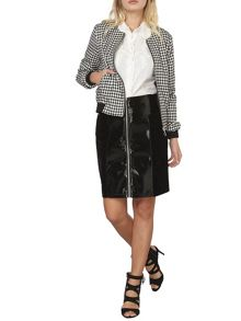 Dorothy Perkins Leather Look and Velvet Skirt