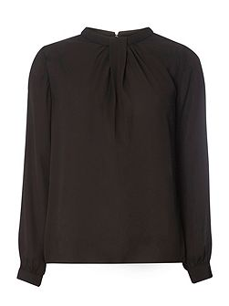 Pleat Neck Blouse
