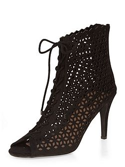 Alzar Cut Out Heel Boots