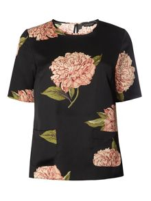 Dorothy Perkins Oriental Satin Top