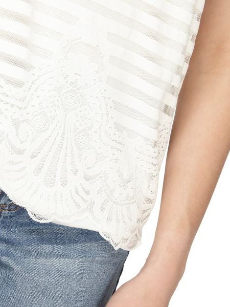 Dorothy Perkins Mesh Lace Front Shell Top