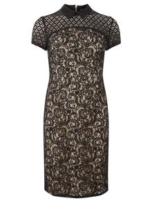 Dorothy Perkins Lace Mix Pencil Dress