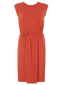 Dorothy Perkins V Back Midi Jersey Fit and Flare Dress