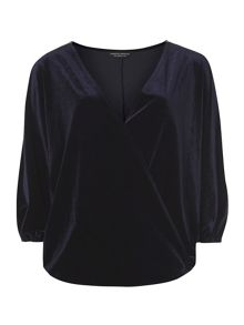 Dorothy Perkins Velvet Wrap Top