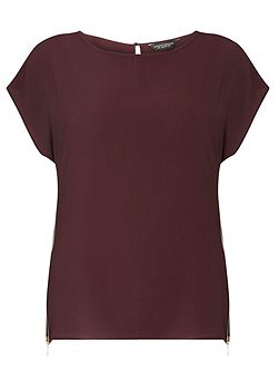 Side Zip Detailed T-Shirt
