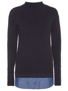 Dorothy Perkins Tall Ribbed 2 in 1 Jumper