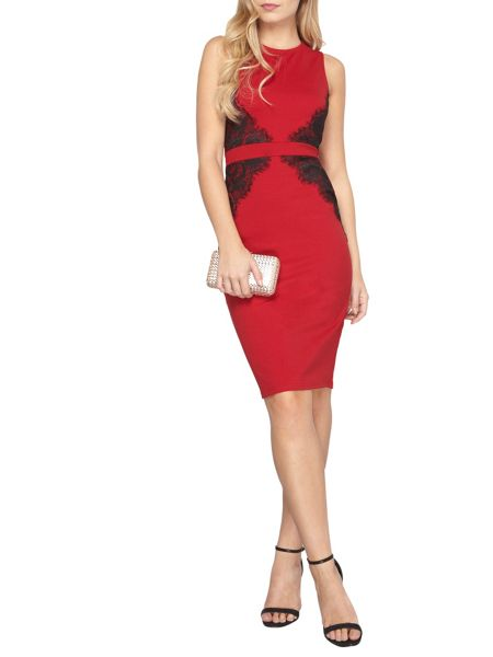 Dorothy Perkins Lace Belted Pencil Dress