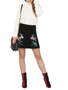 Dorothy Perkins Petite Embroidered Skirt