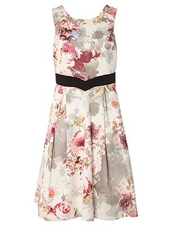 Luxe Multi Floral Prom Dress