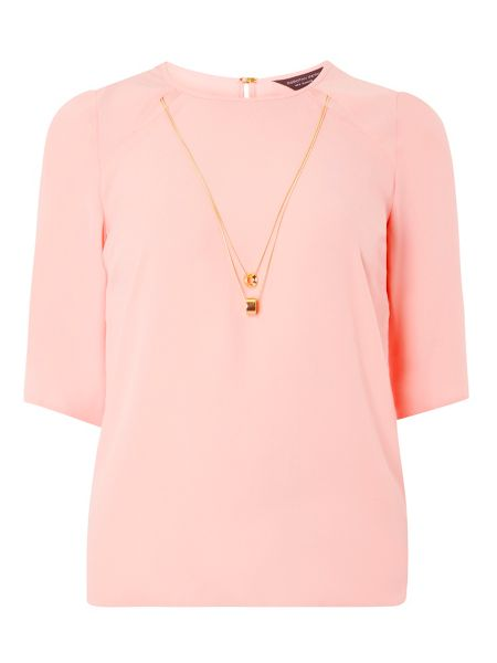 Dorothy Perkins Chain Flute Sleeve Top