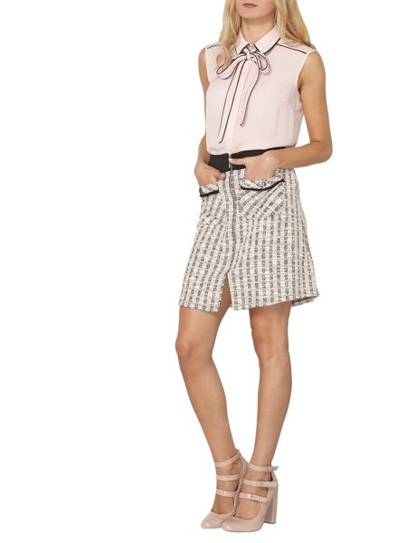 Dorothy Perkins Check Boucle A-Line Skirt