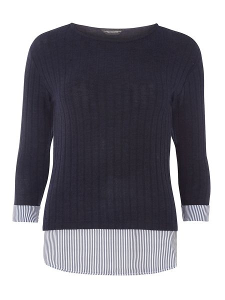 Dorothy Perkins Ribbed 2in1 Top