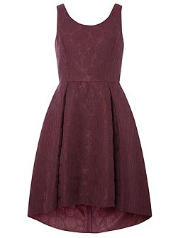 Luxe Jacquard Hi-Low Prom Dress