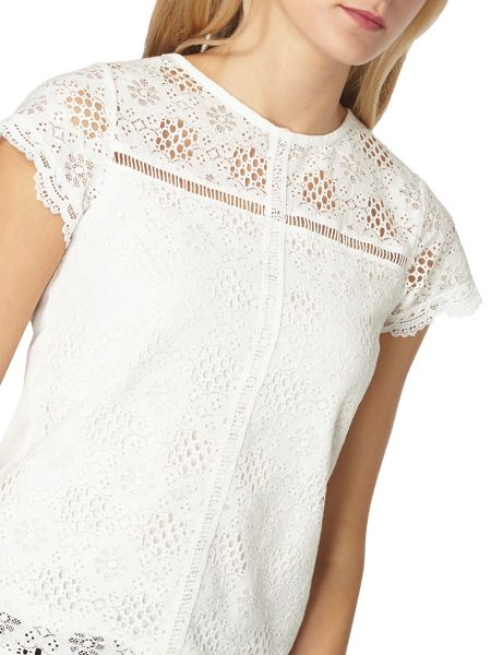 Dorothy Perkins Lace Front Top