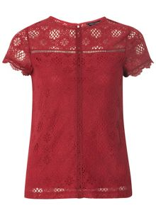 Dorothy Perkins Lace Geo Top
