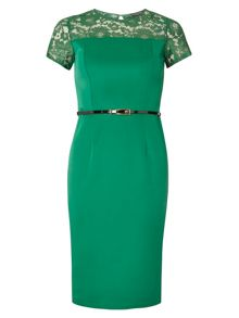 Dorothy Perkins Lace Contrast Pencil Dress