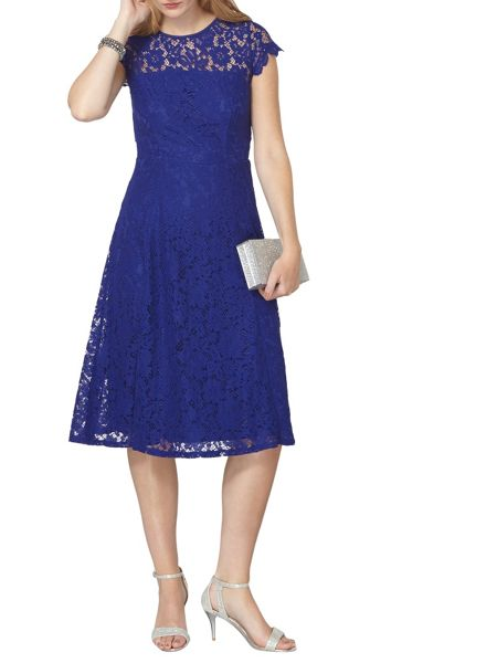 Dorothy Perkins Lace Scallop Midi Dress