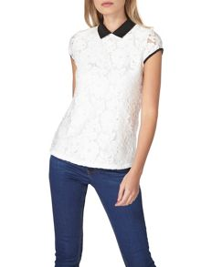 Dorothy Perkins Daisy Lace Collar T-Shirt