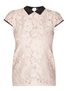 Dorothy Perkins Daisy Lace Collar Top