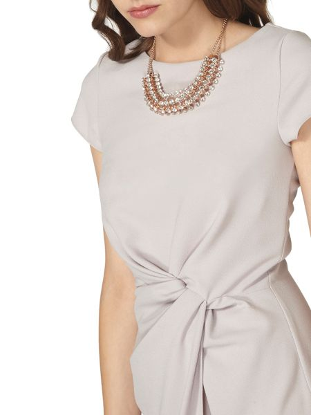 Dorothy Perkins Luxe Ruched Crepe Dress