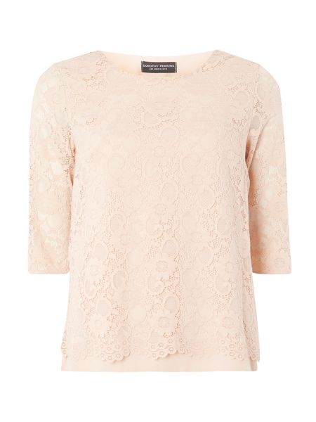 Dorothy Perkins Lace Zip Back Top