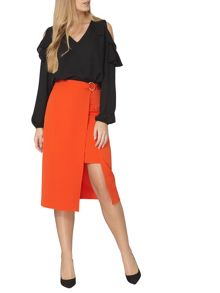 Dorothy Perkins D Ring Column Skirt
