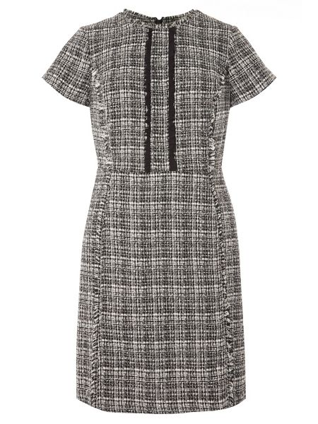 Dorothy Perkins Mono Boucle Dress