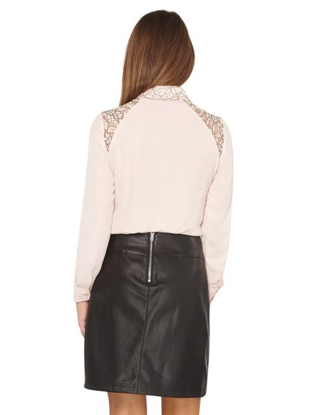 Dorothy Perkins Petite Lace Collar Shirt