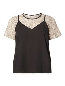 Dorothy Perkins Petite Lace 2in1 Top