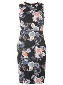 Dorothy Perkins Floral Scuba Zip Dress