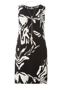 Dorothy Perkins Zebra Print Chain Shift Dress
