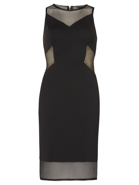 Dorothy Perkins Mesh Panel Pencil Dress