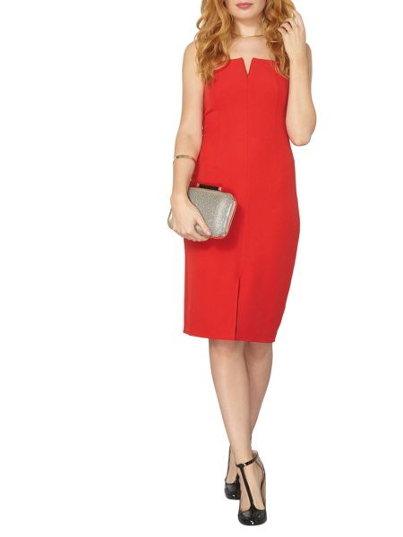 Dorothy Perkins Notch Split Pencil Dress