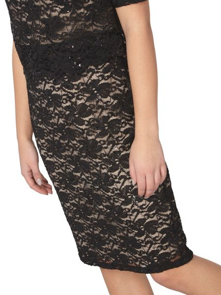 Dorothy Perkins Billie and Blossom Petite Lace Bodycon Dress